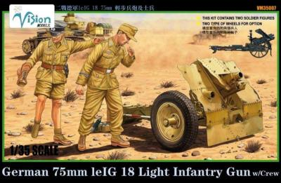 German 75mm leIG18 LIGHT Infantry Gun w/Crew Vision Models