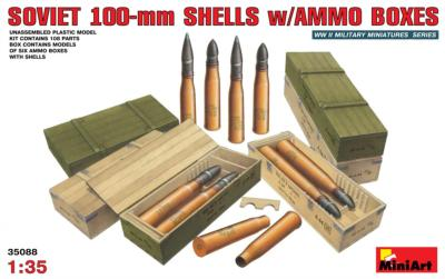 SOVIET 100-mm SHELLS W/Ammunition BOX