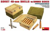 SOVIET 45-mm SHELLS W/Ammunition BOXES